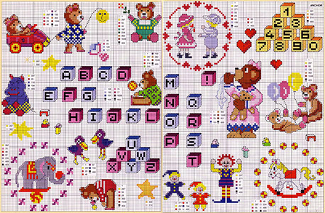 Мелкие детские вышивки крестом схемы 19