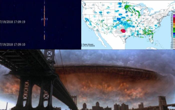 Радары видят огромный объект, парящий над Техасом. Они опять здесь?