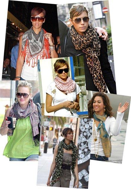 Как носить платки и шарфы.