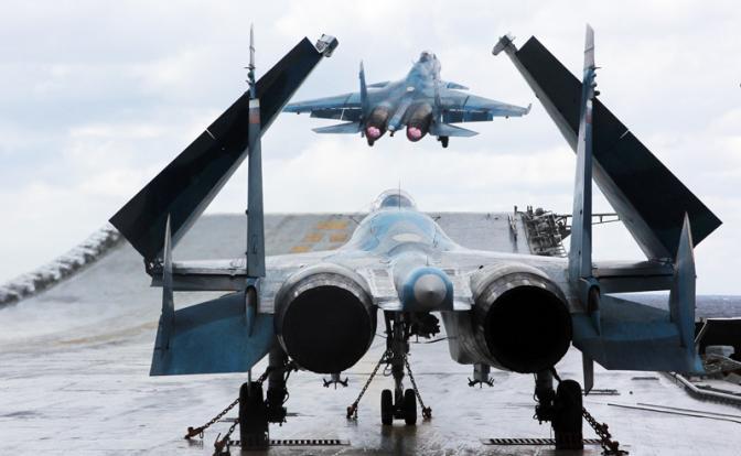 Аварийная посадка палубной авиации России