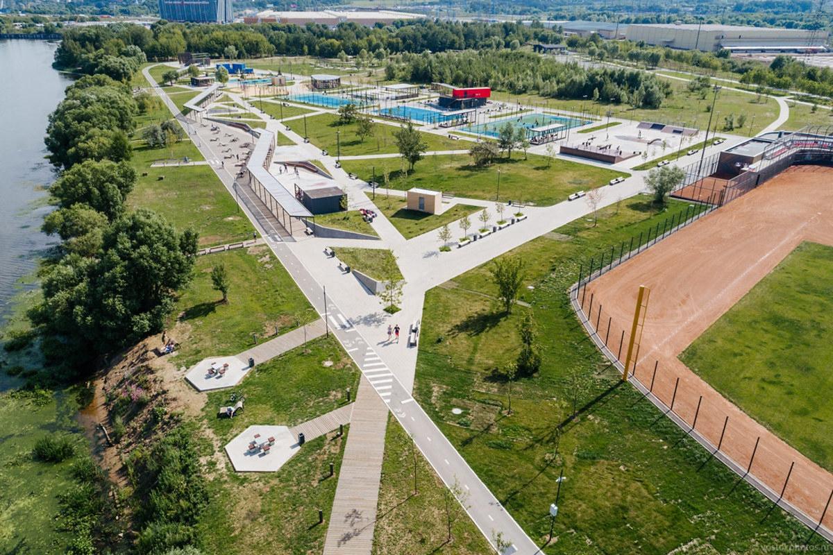Новый суперпарк Братеевская пойма в Москве