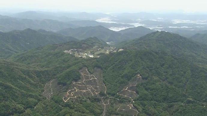 Позиции американских систем противоракетной обороны THAAD  в южнокорейской провинции Кенсан-Намдо