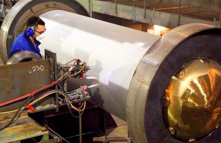"""Завершена сборка корпуса реактора силовой установки для ледокола """"Сибирь"""""""