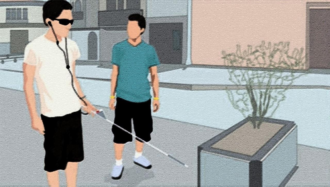 Новое устройство поможет слепым точнее ориентироваться в пространстве