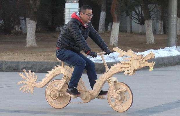 Настоящий велосипед из палоч…
