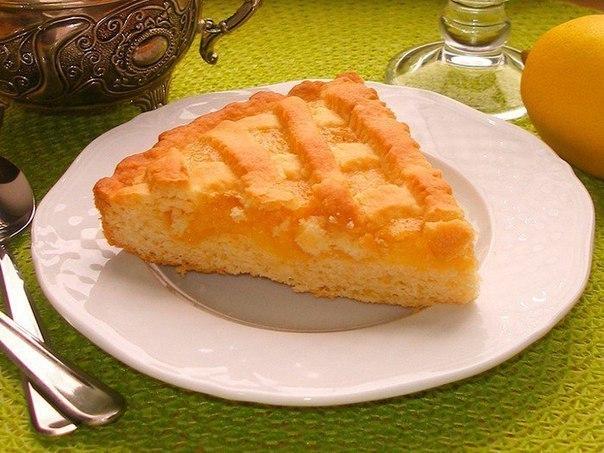 Песочный лимонный пирог. Получается настоящий шедевр