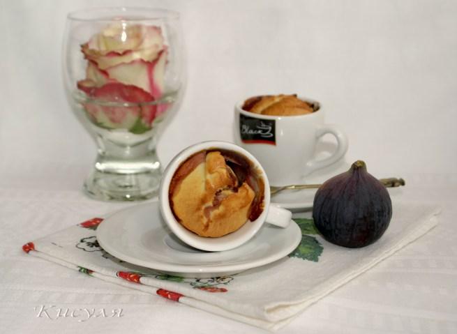 Творожные булочки-суфле с инжиром