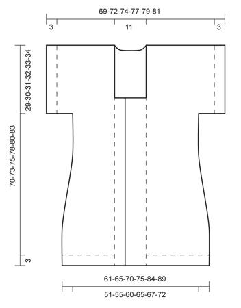 Удлинённый светло-серый жакет от Drops (6 размеров)