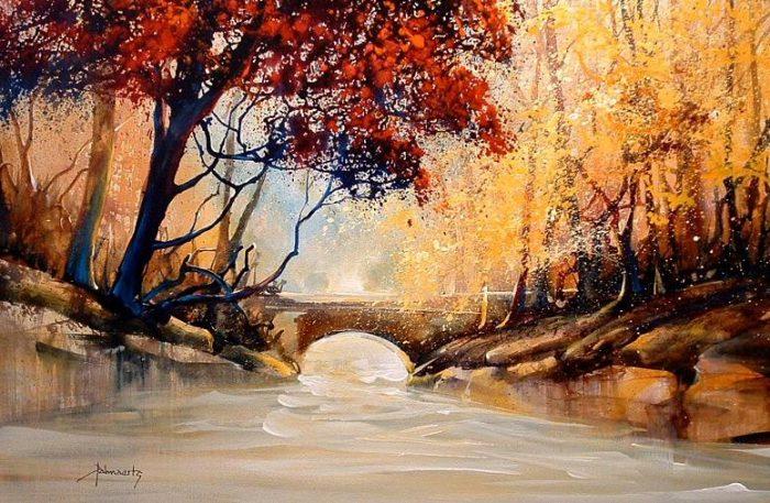 Осень акварелью — завораживающие пейзажи Роланда Палмаэртса