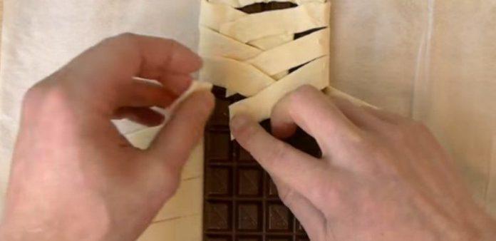 Шоколад в слоеном тесте