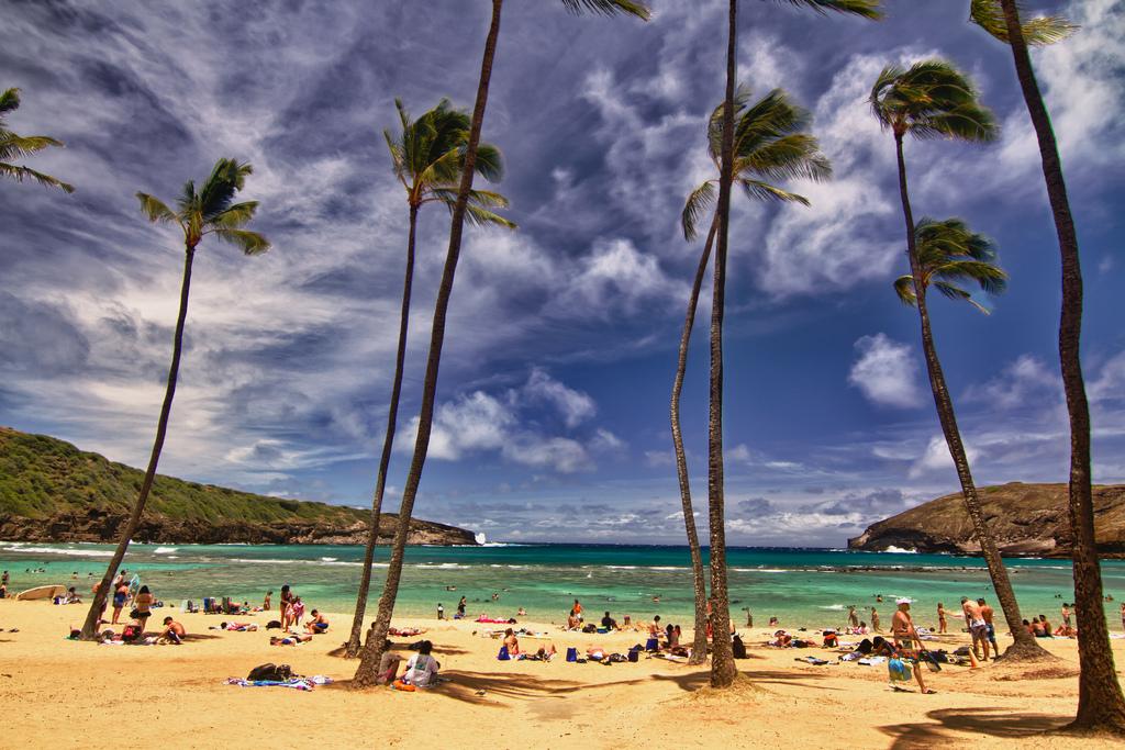 Пляж Ханаума Бэй на Гавайях