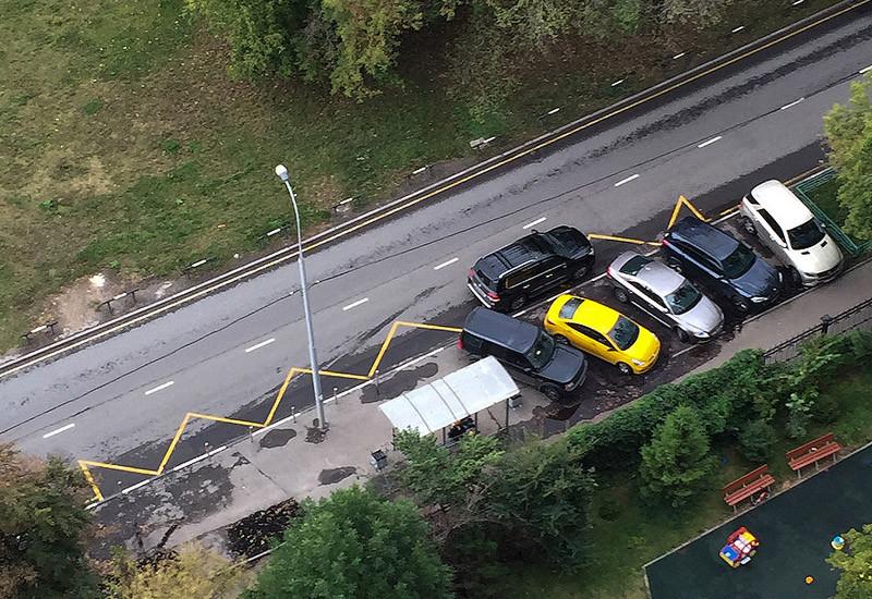 Как пресечь парковку на газонах или Один звонок в полицию