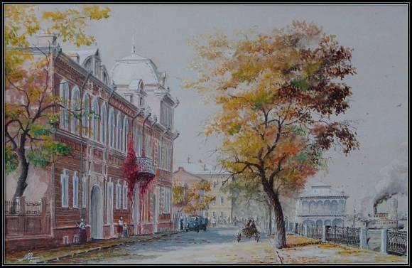 naberezhnaya-volgi-akvarel (580x377, 40Kb)