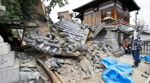 Япония. Землетрясение магнитудой 6.1. Видео