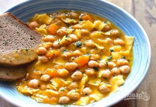 Суп с тыквой и нутом.