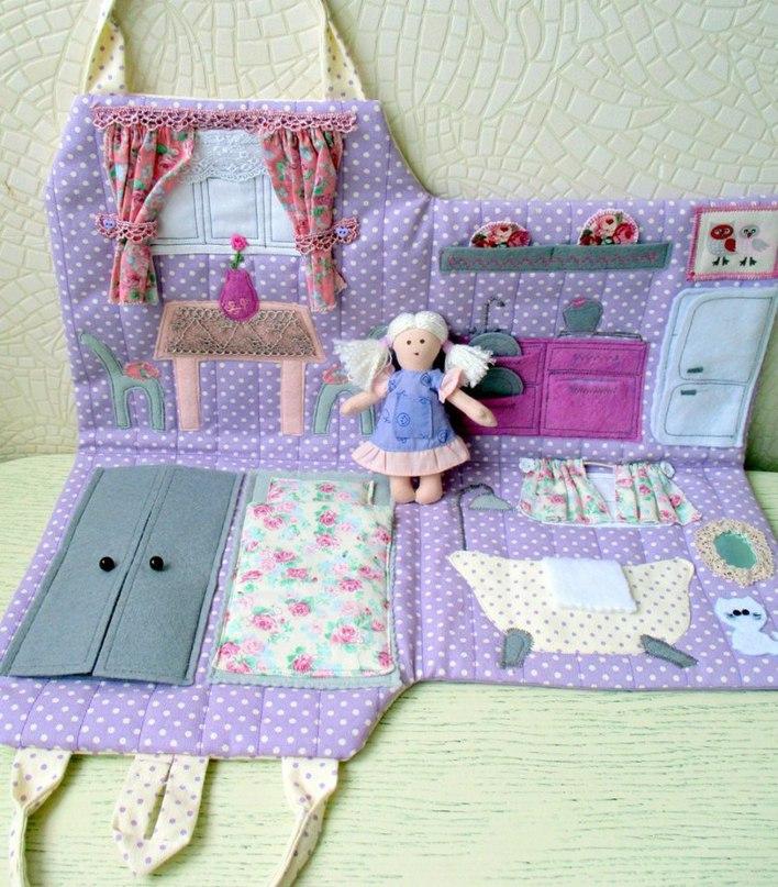Кукольный домик сумка из ткани