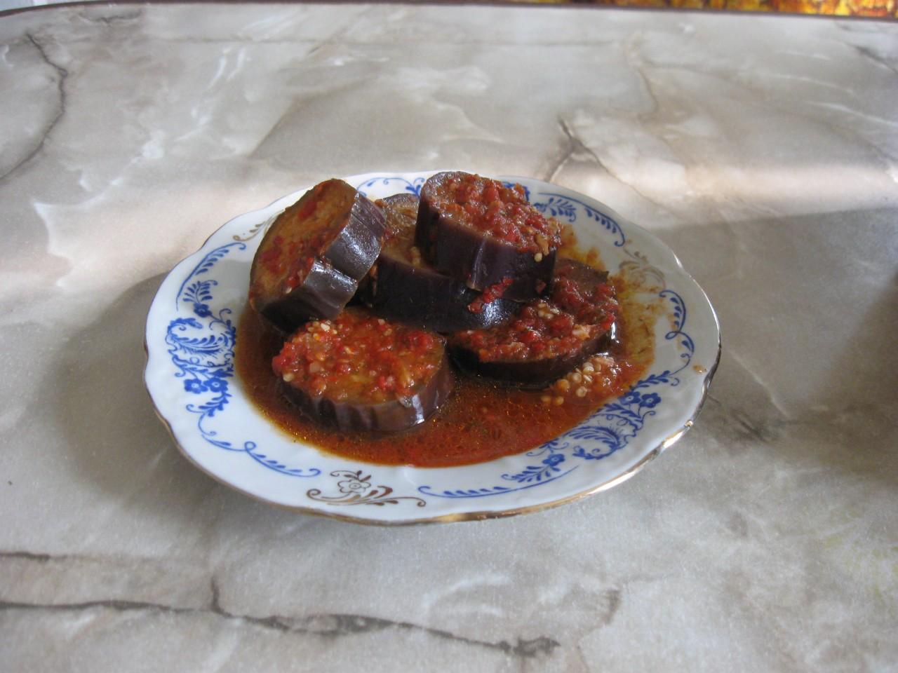 Кобра - закуска из баклажан