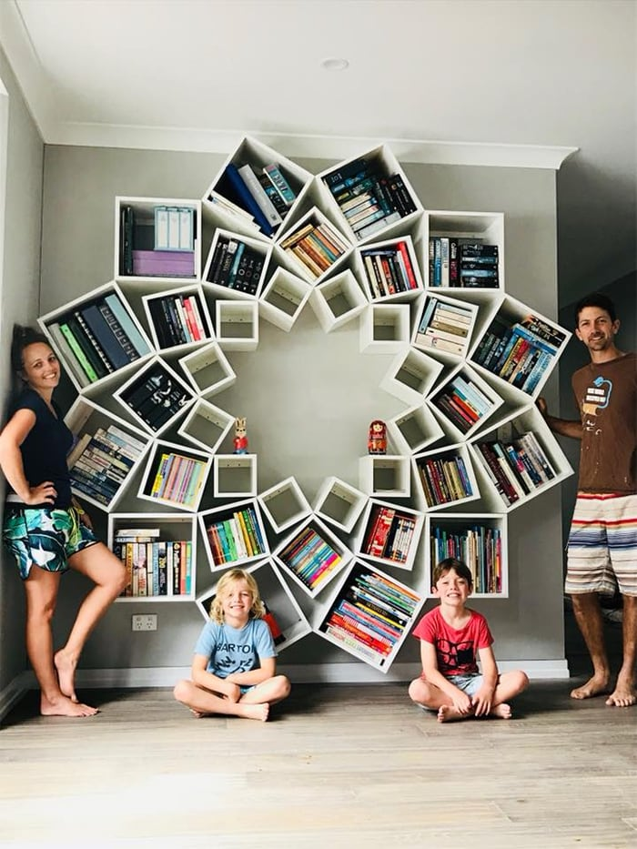 Поразительно красивые книжные полки своими руками!