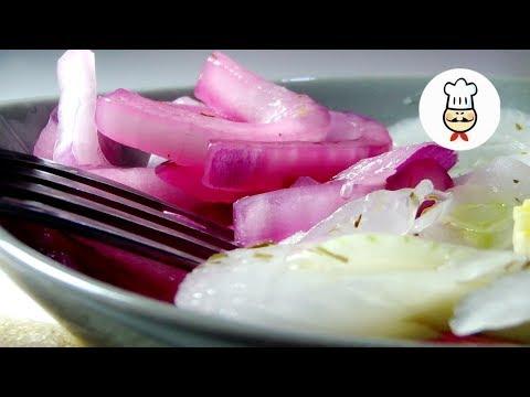 Маринованный лук для салатов, без уксуса