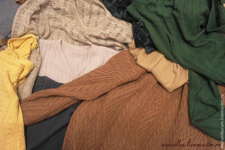 Дачный плед из свитеров? Легко! Простой и увлекательный мастер-класс