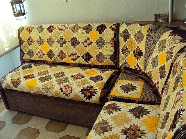 Покрывало на диван мастер