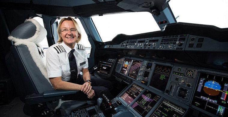 Женщина-пилот рассказала об управлении крупнейшим лайнером