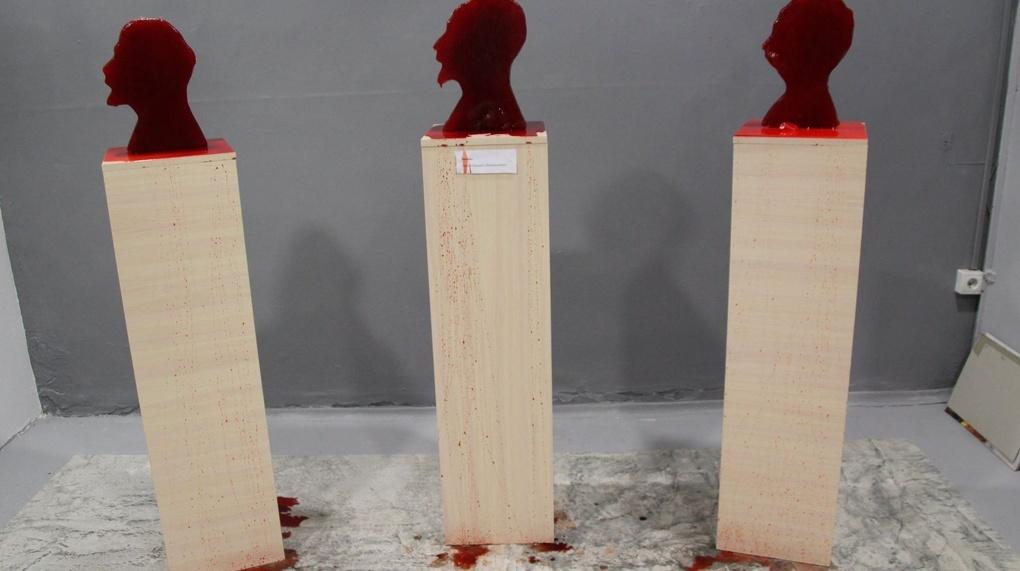 В музее святости в Екатеринбурге выставили кровоточащие головы Ленина, Троцкого и Дзержинского