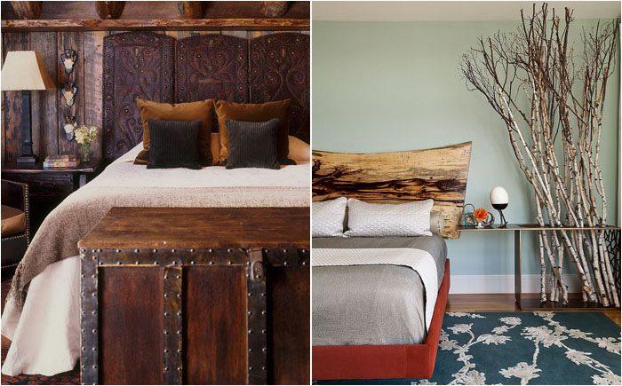 Деревянное изголовье кровати…
