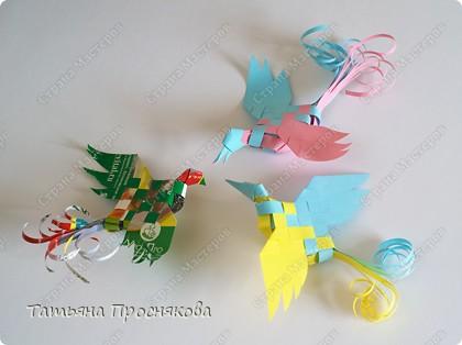 Мастер-класс Поделка изделие Плетение Плетёные птички Бумага фото 1