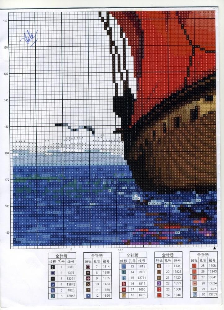 Алые паруса схемы вышивки крестиком 4