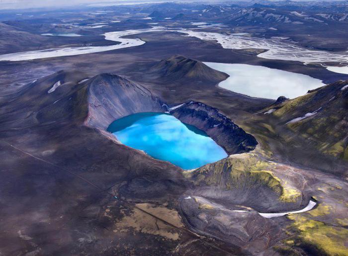 Hnausapollur (Blahylur), заповедник Фьяллабак, Исландия