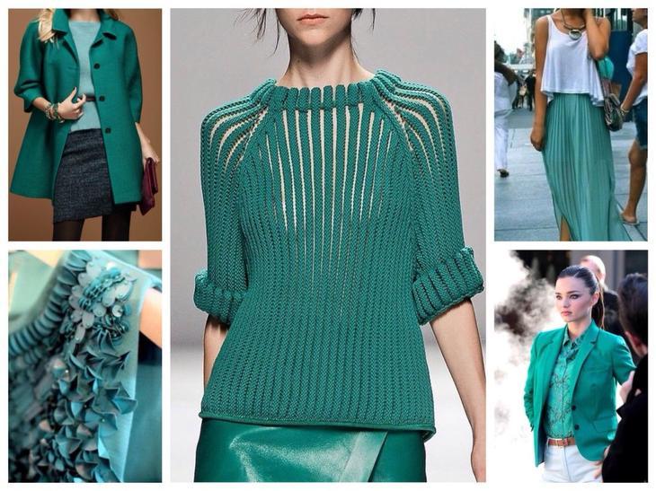 Одежда цвета морской волны — интересные комбинации