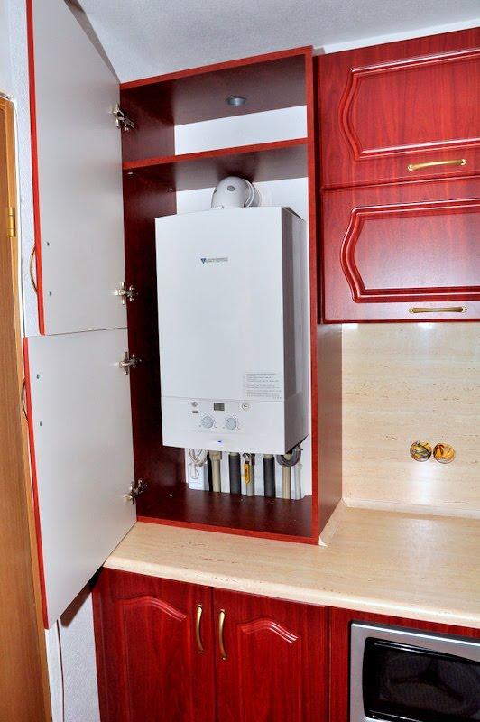 Дизайн кухни с котлом отопления