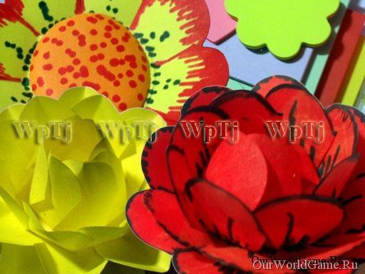 Мастер класс простые цветы для детского творчества.