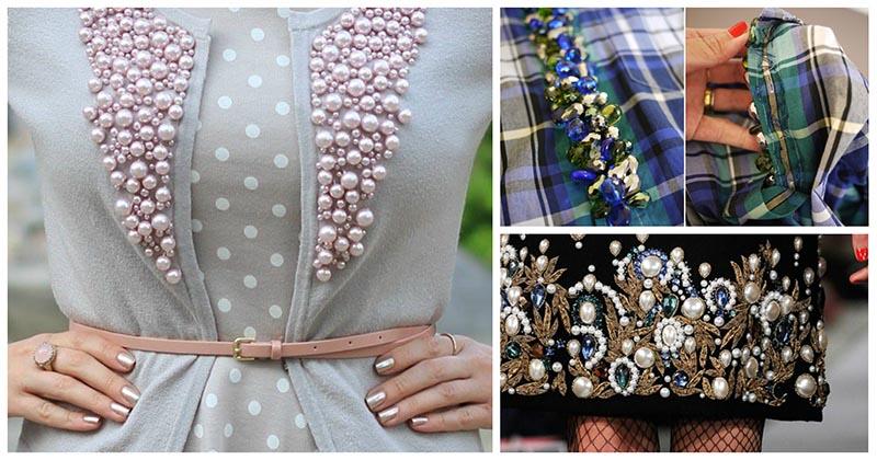 Всего-то горсть бусин, а в результате — красота. 20 идей декора одежды