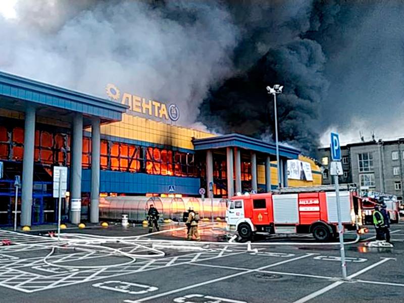 В Петербурге сгорел гипермар…