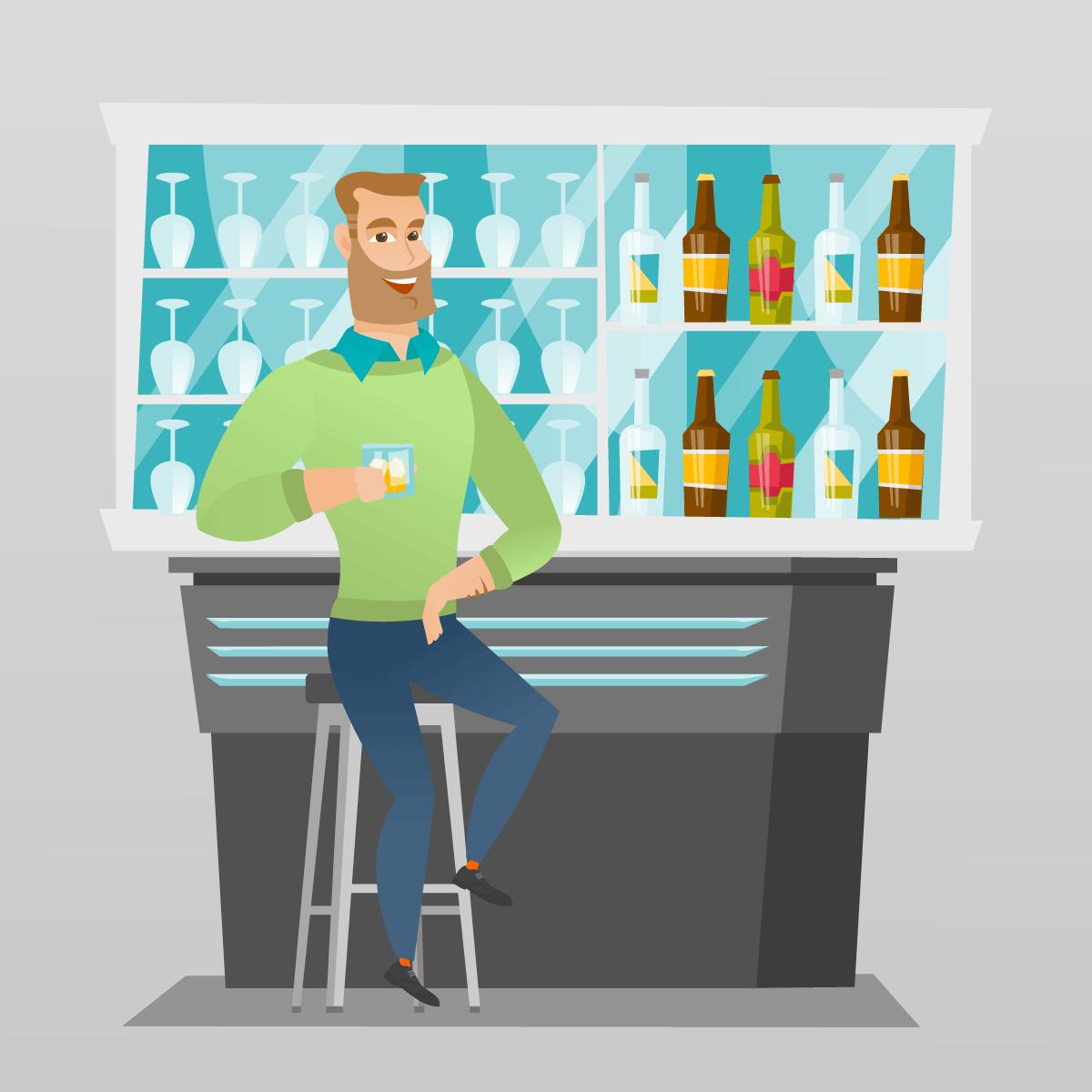 Анекдот про бармена, который вечно недоливал заказанные напитки