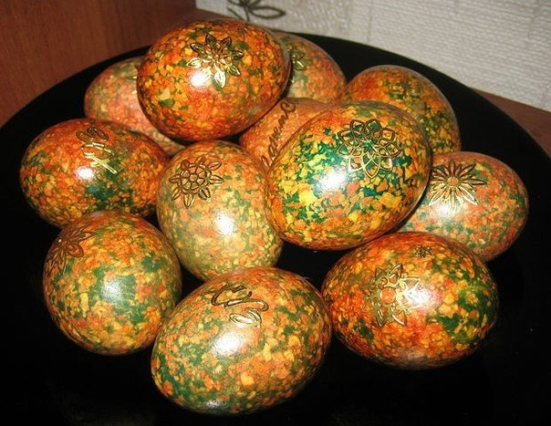 Крашенки » мраморные». Красим яйца оригинальным способом к пасхе