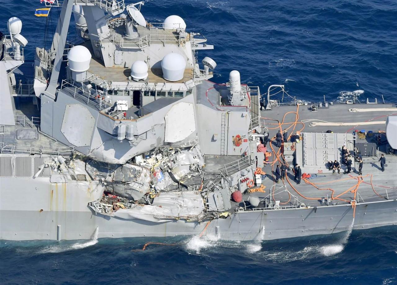 Расследование столкновений американских эсминцев Fitzgerald и John S. McCain с сухогрузами