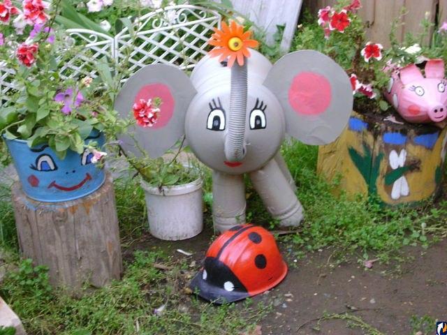 Украшения и поделки для сада своими руками фото