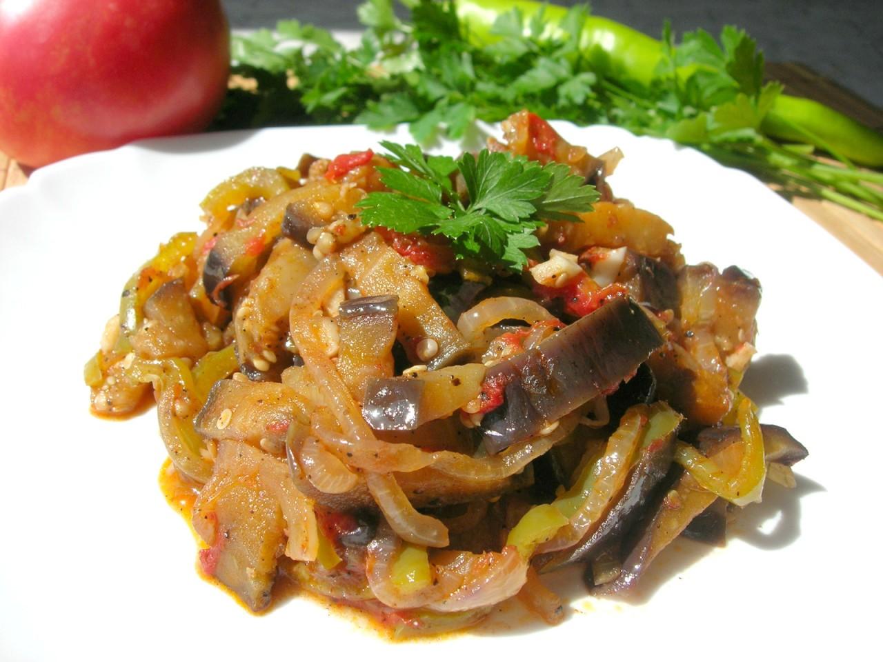 Кадича - салат из баклажан. Вы только попробуйте, как это вкусно!