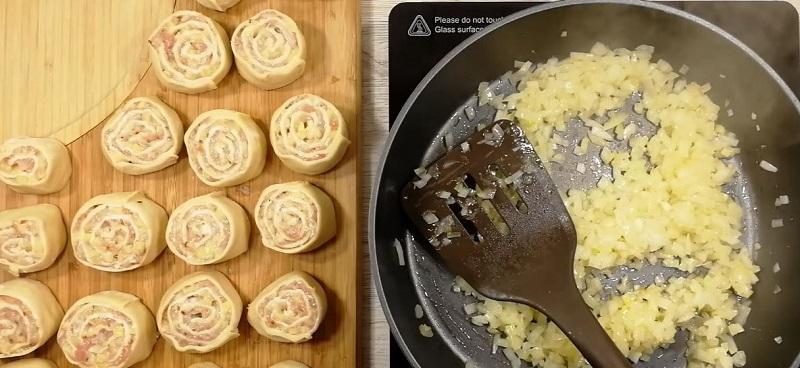 как резать лук на зажарку