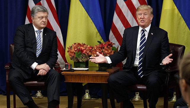 Трамп призвал Порошенко улучшить бизнес-климат на Украине