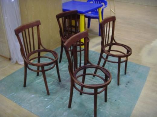 Переделка старых стульев… Разбираем стул на запчасти как конструктор!