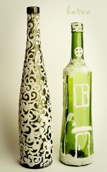 IMG 4706 Как декорировать бутылку манкой.