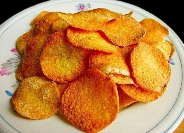 Вкусные чипсы без соли и масла