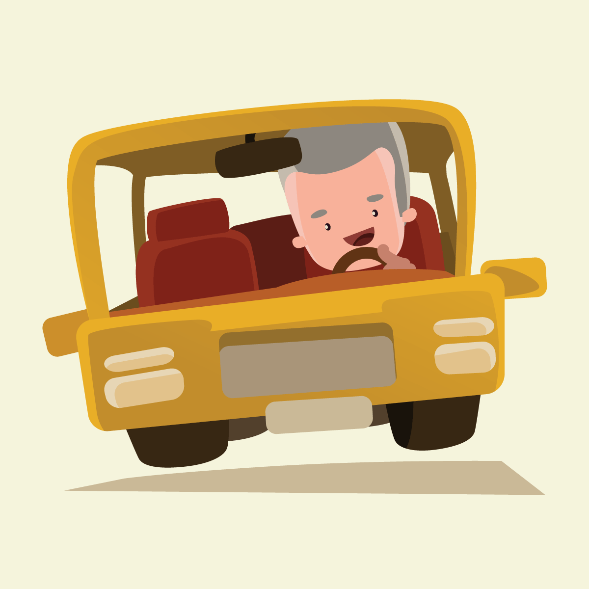 Анекдот про то, как старичок двух грозных амбалов подвозил