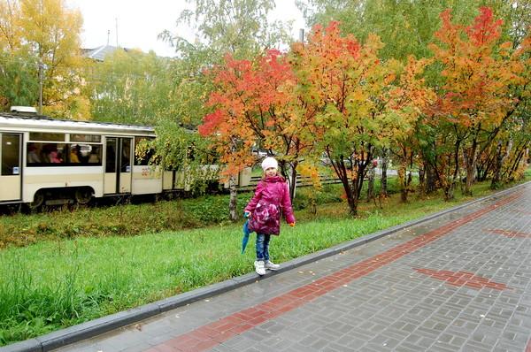 Южный Урал. Маришка и осенний в парк.