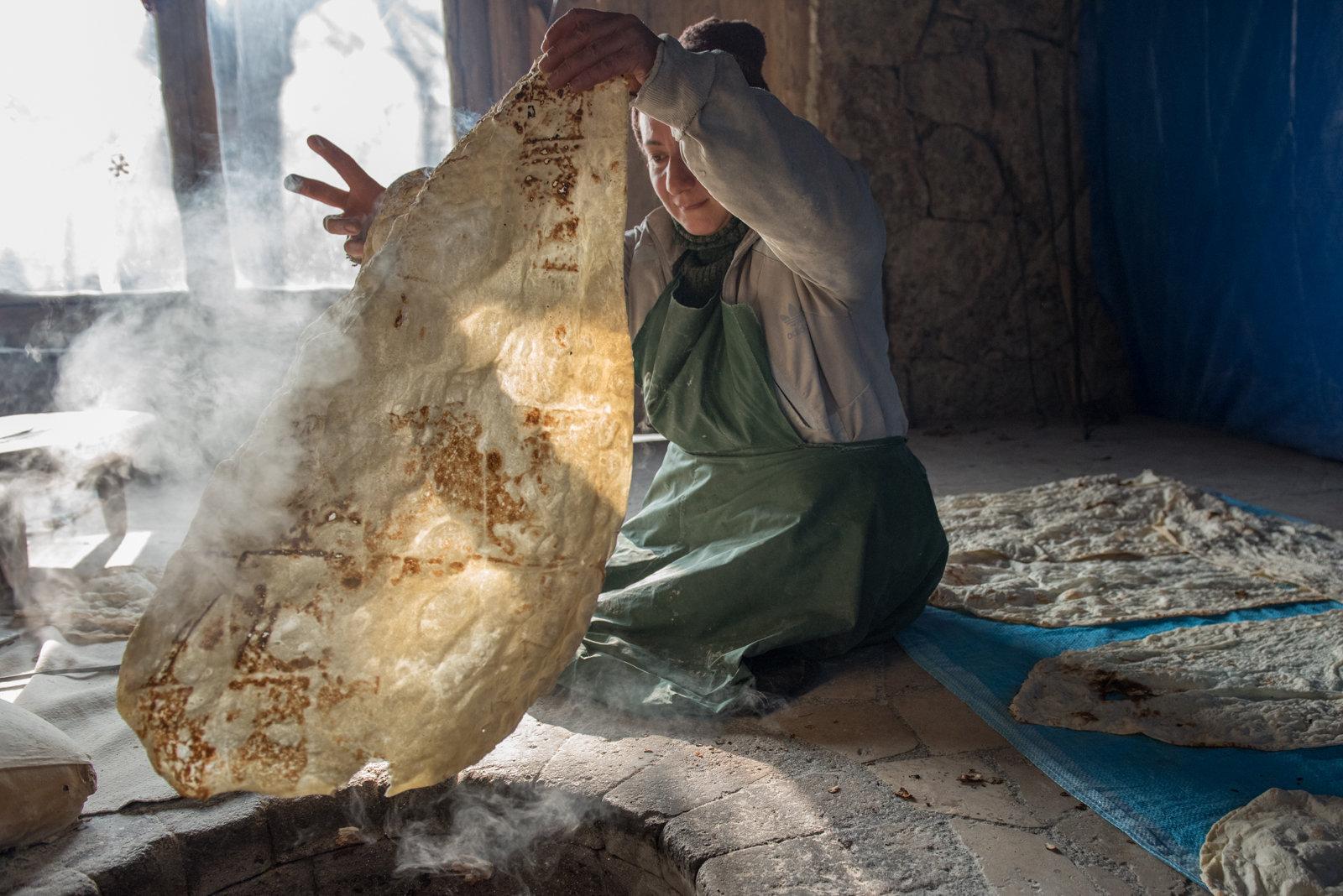 Приготовление Лаваша в Армении
