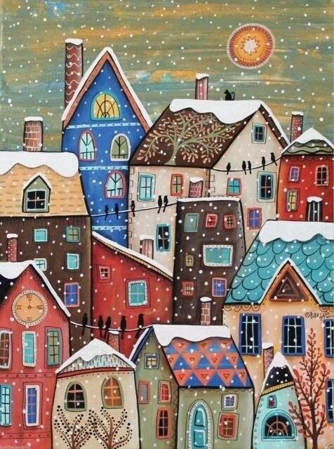 Новогоднее настроение в картинах Карлы Герард